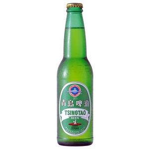 中国【海外ビール】 チンタオ・レギュラー 330ml×24本(1ケース) - 拡大画像