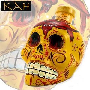 【テキーラ】 カー スカル 髑髏 デキャンタ レポサド 750ml 55度 KAH REPOSADO SKULL Tequila - 拡大画像