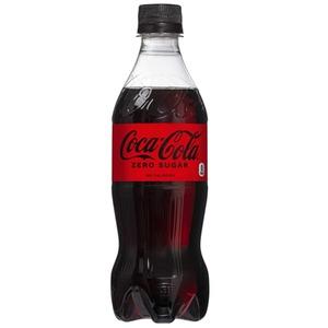 【飲料】コカ・コーラ ゼロ  シュガー Coca Cola Zero 500ml 1ケース(24本入) - 拡大画像