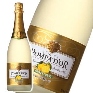 【スパークリングワイン】 ポンパドール Pompa Do'r グレープフルーツ 750ml スパークリングワイン  - 拡大画像