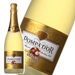 【スパークリングワイン】 ポンパドール Pompa Do'r ライチ 750ml スパークリングワイン  - 拡大画像