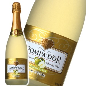 【スパークリングワイン】 ポンパドール Pompa Do'r グリーンアップル 750ml スパークリングワイン  - 拡大画像