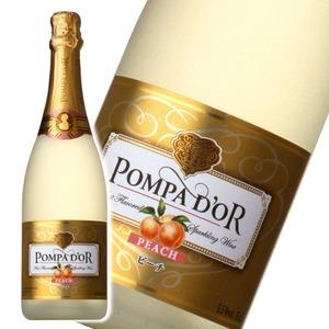 【スパークリングワイン】 ポンパドール Pompa Do'r ピーチ 750ml スパークリングワイン  - 拡大画像