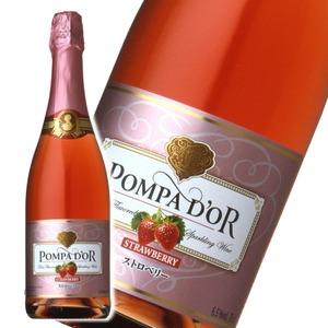 【スパークリングワイン】 ポンパドール Pompa Do'r ストロベリー 750ml スパークリングワイン  - 拡大画像