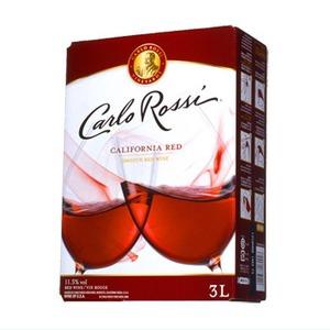 【ワイン】カリフォルニア産 カルロロッシ ボックスワイン 赤 3L - 拡大画像
