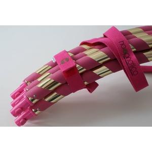 フープノティカデラックスセット (フープ・DVD・ストラップ付き) ピンク&ゴールド - 拡大画像