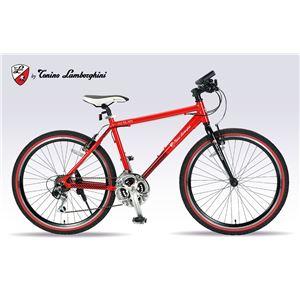 Lamborghini(ランボルギーニ) 自転車 クロスバイク 26・18SP TL-972 RED - 拡大画像