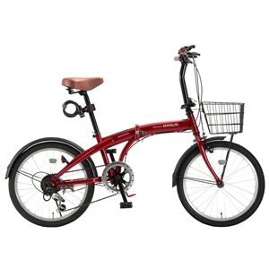 MYPALLAS(マイパラス) 折畳自転車20・6SP・オールインワン HCS-01-RD レッド - 拡大画像