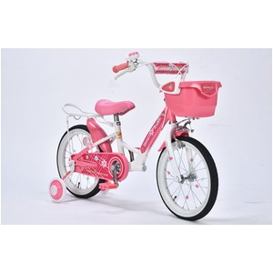 MYPALLAS(マイパラス) 子供用自転車16・補助輪付 MD-12 ピンク - 拡大画像