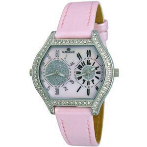 ST.MAREGE(セントマリアージュ) ツインフェース 婦人腕時計 2004-03/ピンク - 拡大画像