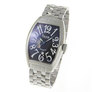 Ficce(フィッチェ) 自動巻 腕時計 FC-11047-02 ブラック - 拡大画像