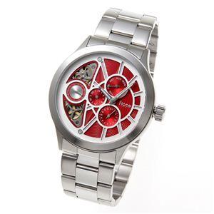 Ficce(フィッチェ) 腕時計 ツインムーブ マルチファンクション FC-11050-03 レッド - 拡大画像