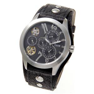 Ficce(フィッチェ) 腕時計 ツインムーブ マルチファンクション FC-11051-01 ブラック - 拡大画像