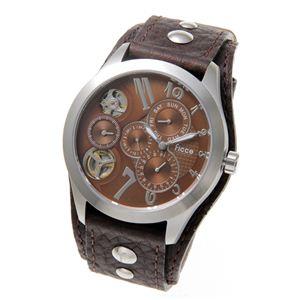 Ficce(フィッチェ) 腕時計 ツインムーブ マルチファンクション FC-11051-02 ブラウン - 拡大画像