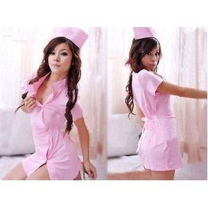 看護婦のナースコスプレ ピンク - 拡大画像