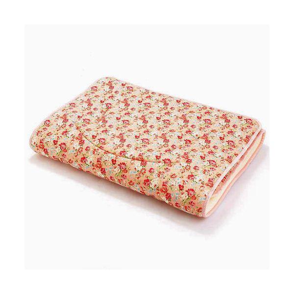 ルナエアー セミダブル 花柄ピンクの可愛い敷布団