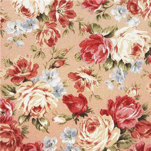 超軽量極薄敷布団ルナエアー ダブル 花柄ピンク 日本製 - 拡大画像