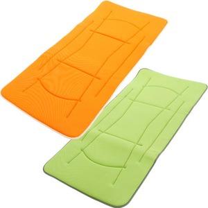 超軽量極薄敷布団 ルナエアーマスターピース(セパレートタイプ) グリーン×オレンジ 日本製 - 拡大画像