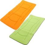 超軽量極薄敷布団 ルナエアーマスターピース(セパレートタイプ) グリーン×オレンジ 日本製