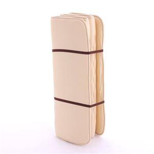 6つ折りコンパクトルナエアー(超軽量極薄敷布団) ベージュ 日本製 - 拡大画像