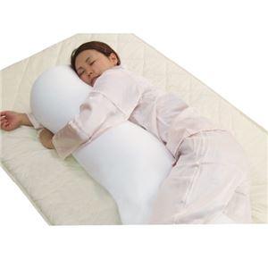 くせになるもちもち感 マイクロビーズ使用抱き枕 クリーム 日本製 - 拡大画像