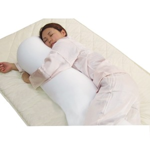 くせになるもちもち感 マイクロビーズ使用抱き枕 グリーン 日本製 - 拡大画像