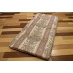 コンパクト収納 4つに折れる軽量敷布団 セミシングルピンク 綿100% 日本製