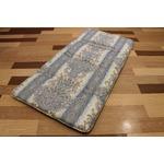 コンパクト収納 4つに折れる軽量敷布団 セミシングルブルー 綿100% 日本製