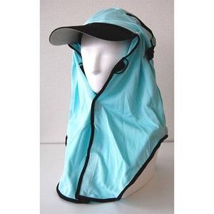 日焼け防止・UVカットする帽子、紫外線保護指数UPF50+【フリルネックU.T.E. ポリエステルマイクロメッシュ】(ミント) - 拡大画像