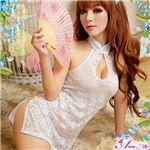 チャイナ服 チャイナドレス コスチューム コスプレ 衣装 白 z1155