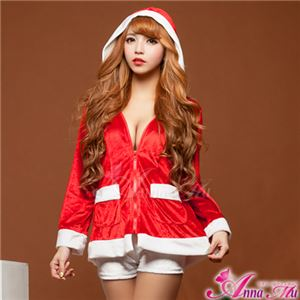 【クリスマスコスプレ 衣装】サンタクロースコスプレセット/コスチューム/s024 - 拡大画像