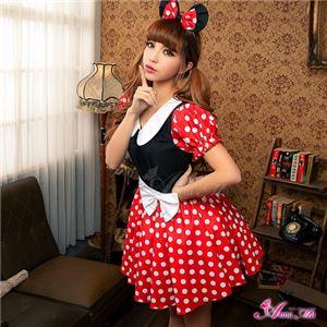z1352 ミニーちゃん風 ディズニー Disney コスプレ衣装 通販 - 拡大画像