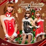 【サンタ】C371/コスチューム/コスプレ衣装/クリスマス/制服/サンタ衣装/バニーガール C371bk カラー:ブラック