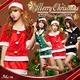 クリスマス☆サンタクロースコスプレセット/コスチューム/s020 s020bk カラー:ブラック - 縮小画像1