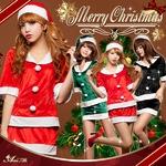 クリスマス☆サンタクロースコスプレセット/コスチューム/s020 s020bk カラー:ブラック