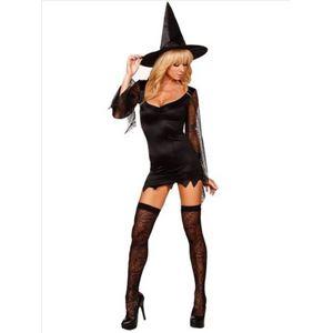 コスプレ コスチューム 衣装 仮装 デビル コスチューム 悪魔 魔女 魔法使い 大人 ワンピース wb015 黒 - 拡大画像