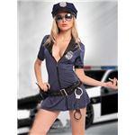 コスプレ コスチューム ポリス ミニスカポリス 警官 制服 仮装 コスプレ コスチューム衣装 ミニスカート wb048 紺 青大人 大きいサイズ
