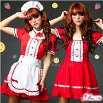 コスプレ コスチューム メイド服 メイド衣装 メイドコスチューム z678 赤