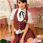 コスプレ コスチューム 女子高制服 制服 学生服 セーラー服 3点 z684 赤 チェック ブレザーセーラー服