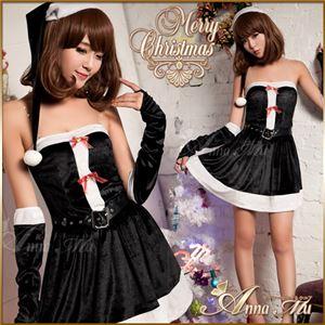 コスプレ コスチューム ドレス ワンピース アームカバーs005-bk 黒 - 拡大画像