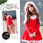 サンタコスプレ コスチューム ドレス ワンピース s025 赤 ファー