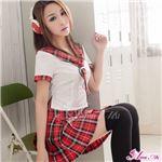 コスプレ コスチューム セーラー服 制服 女子高生 学生服 ミニスカ z1547 赤 白 衣装コスチュ