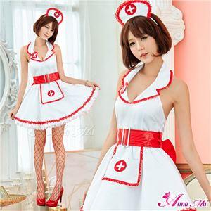 コスプレ ランジェリー コスチューム ナース ナース服 看護婦 z2162 赤 白 - 拡大画像