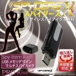 【小型カメラ】USBメモリ型スパイカメラ(スパイダーズX-A400)外部電源/最大32GB対応
