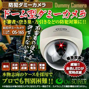 【防犯用ダミーカメラ 屋外】ドーム型 (アイボリー) オンサプライ(OS-165) - 拡大画像