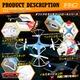【RCオリジナルシリーズ】小型カメラ搭載ラジコン クアッドコプター ドローン 2.4GHz 4CH対応 6軸ジャイロ搭載 3Dアクション フリップ飛行『F801・C』(OA-3290) HD720P 30FPS - 縮小画像4