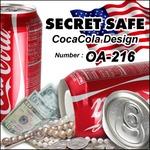 【隠し金庫】 飲料缶型 セーフティボックス 『SECRET SAFE シークレットセーフ』(OA-216) CocaCola アメリカン雑貨 米国直輸入 貴重品の保管 収納 タンス貯金 へそくり 防犯 スパイグッズ