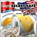 【隠し金庫】 食品缶型 セーフティボックス 『SECRET SAFE シークレットセーフ』(OA-386) Campbell's Cream of Chicken アメリカン雑貨 米国直輸入 貴重品の保管 収納 タンス貯金 へそくり 防犯 スパイグッズ