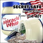【隠し金庫】 食品ボトル型 セーフティボックス 『SECRET SAFE シークレットセーフ』(OA-401) Miracle Whip Dressing Original アメリカン雑貨 米国直輸入 貴重品の保管 収納 タンス貯金 へそくり 防犯 スパイグッズ