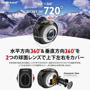 【小型カメラ】【360°カメラ】【ウェアラブルカメラ】【スポーツカム】【アクションカム】全天球 球面レンズ 両面レンズ 720°撮影 VR 4K/15fps 2.7K/25fps 高画質撮影 水平・垂直360° スマホ操作 パノラマ 写真 360パノラミックカメラ オンロード OnLord (OL-104) h03